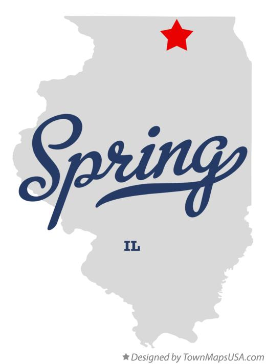 Map of Spring Illinois IL