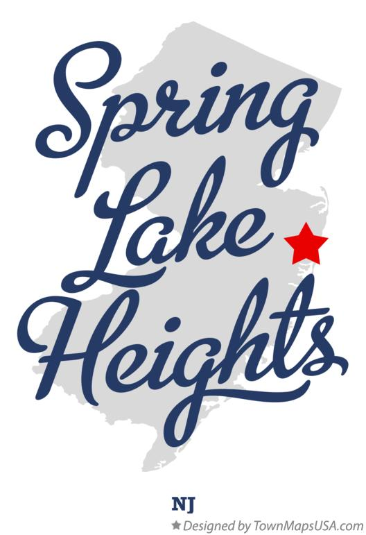 Map of Spring Lake Heights New Jersey NJ