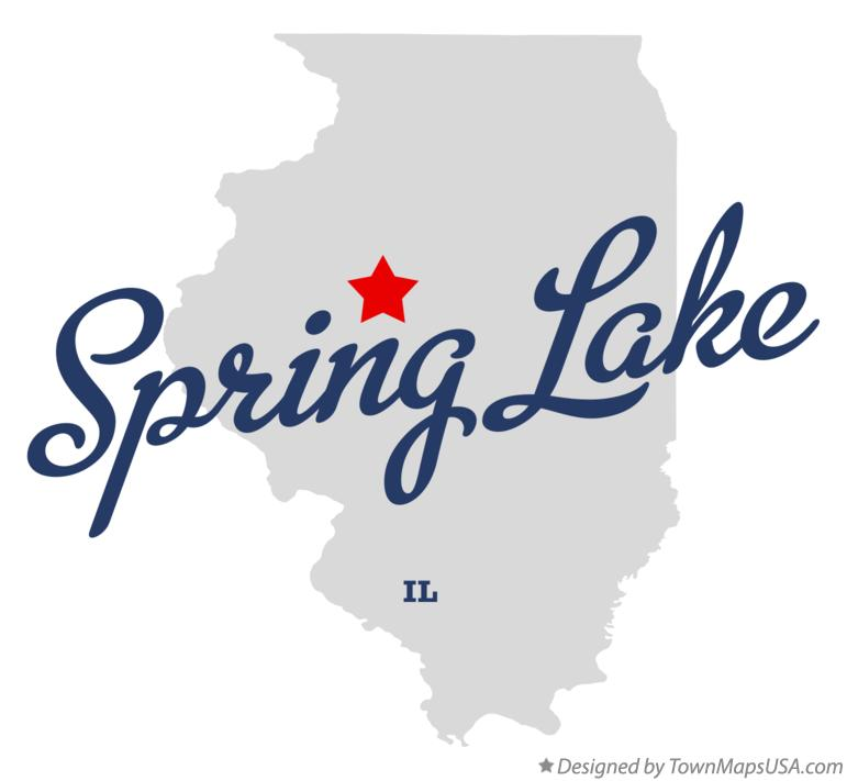 Map of Spring Lake Illinois IL