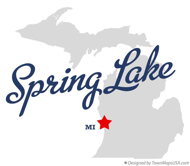 Map of Spring Lake Michigan MI
