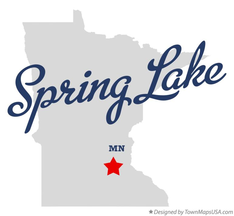 Map of Spring Lake Minnesota MN