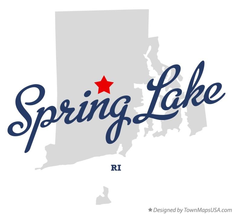 Map of Spring Lake Rhode Island RI
