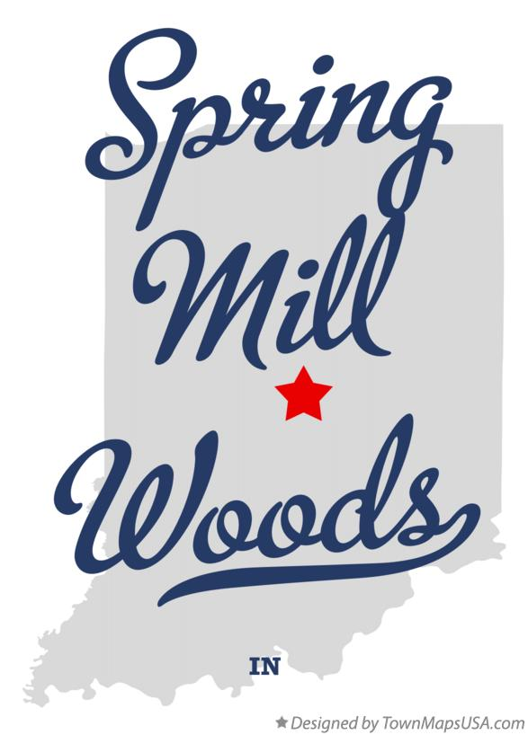 Map of Spring Mill Woods Indiana IN