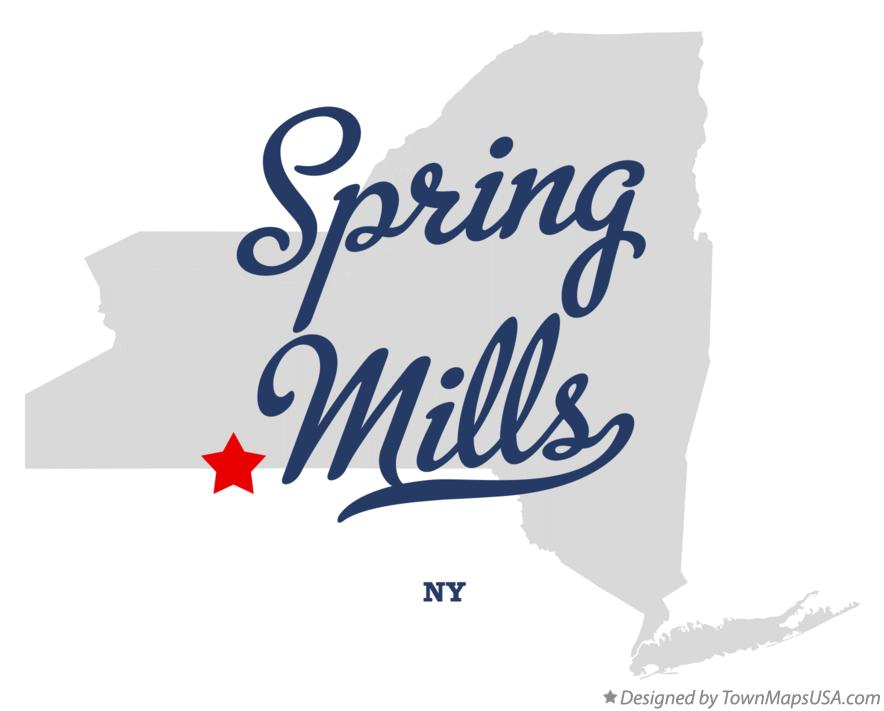 Map of Spring Mills New York NY