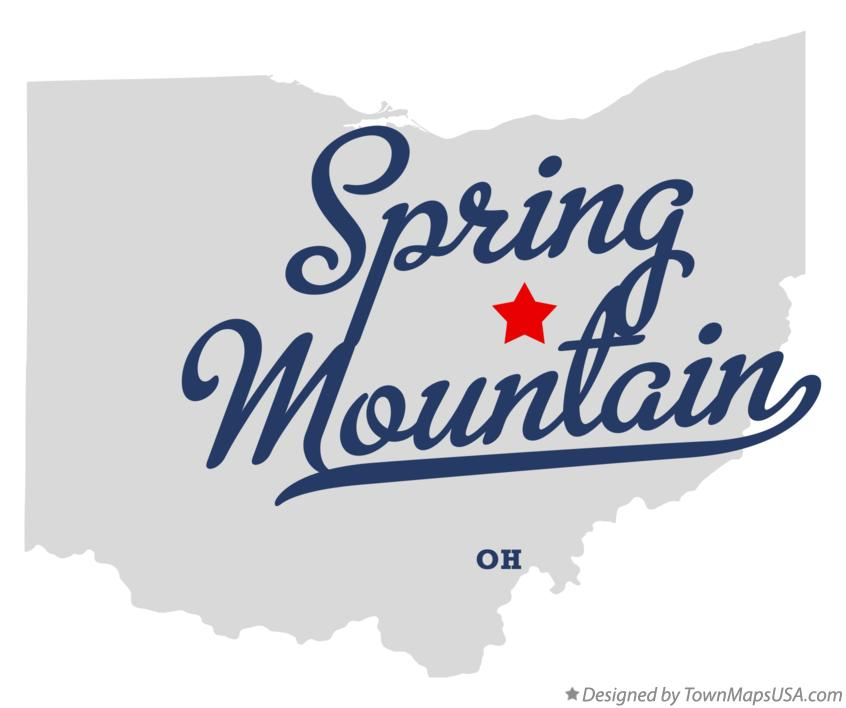 Map of Spring Mountain Ohio OH