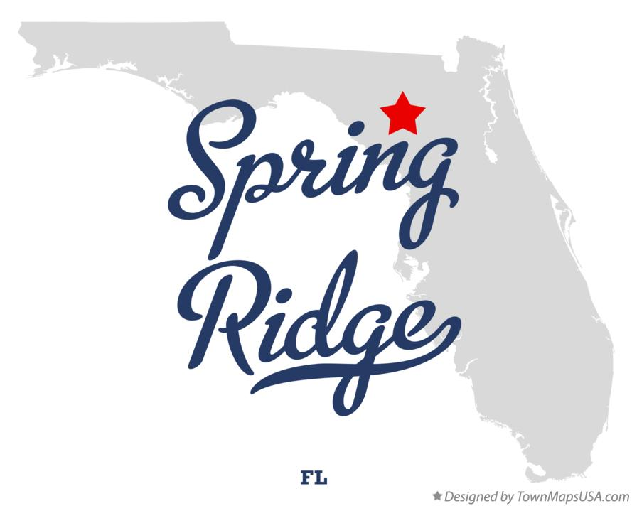 Map of Spring Ridge Florida FL
