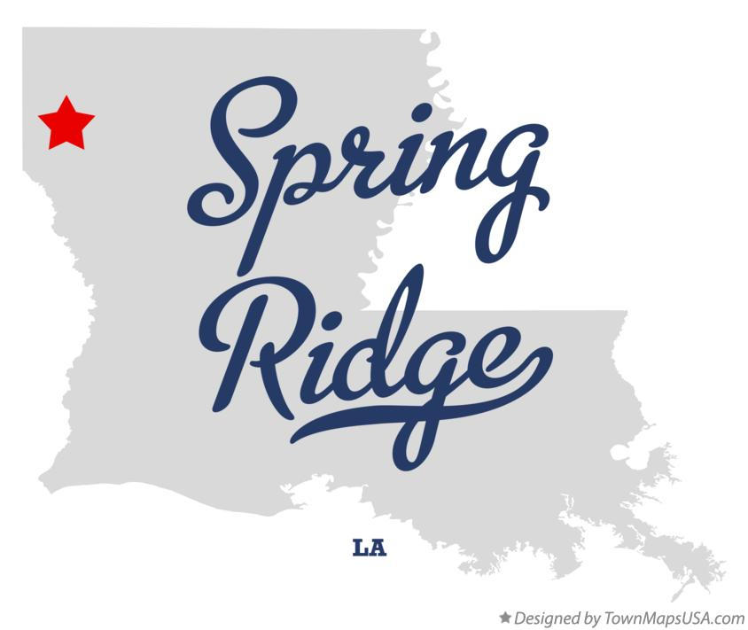 Map of Spring Ridge Louisiana LA