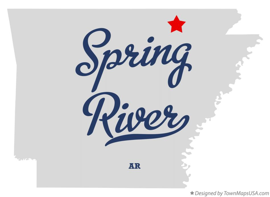 Map of Spring River Arkansas AR
