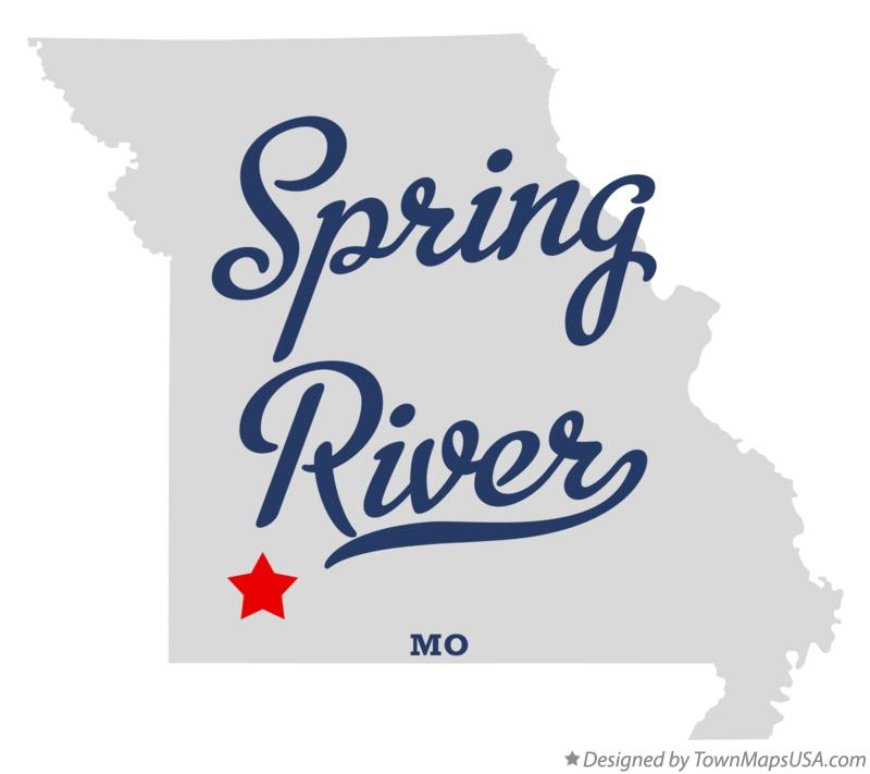 Map of Spring River Missouri MO