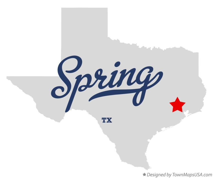 Map of Spring Texas TX