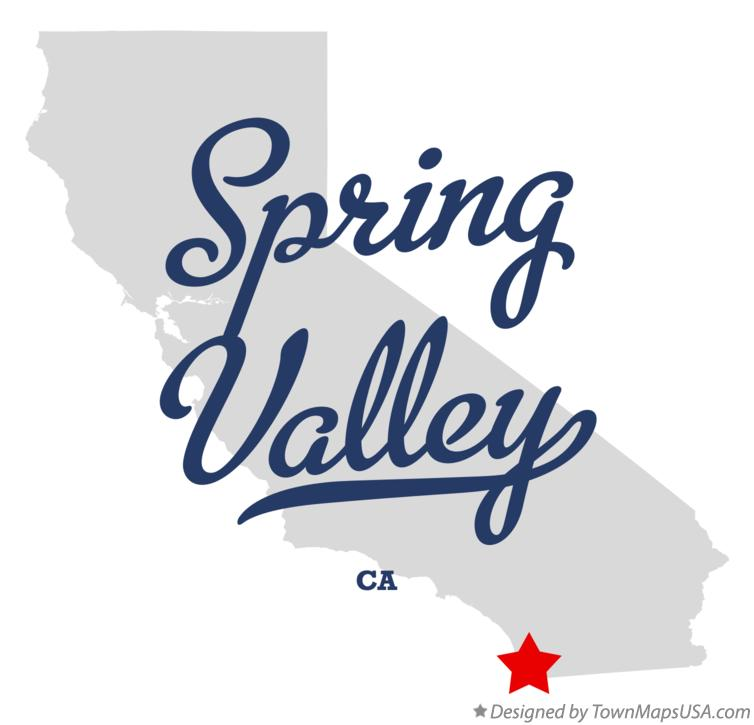 Map of Spring Valley California CA
