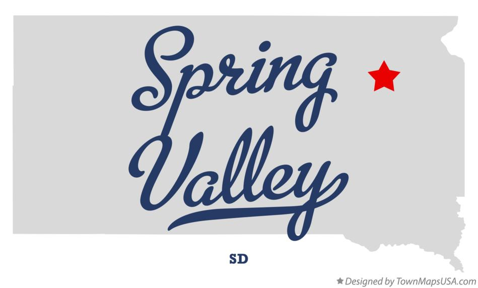 Map of Spring Valley South Dakota SD