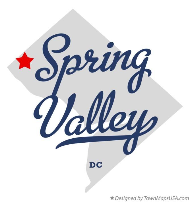Map of Spring Valley District Of Columbia DC