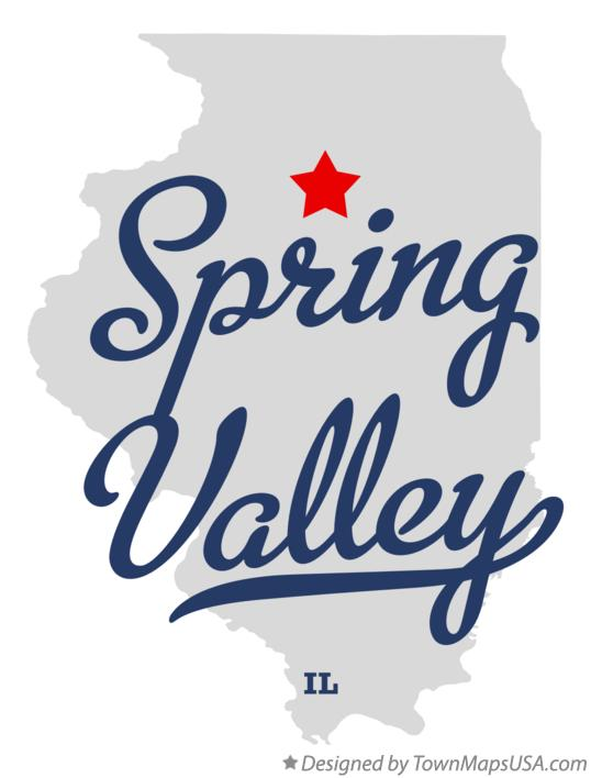Map of Spring Valley Illinois IL