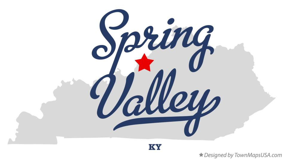 Map of Spring Valley Kentucky KY