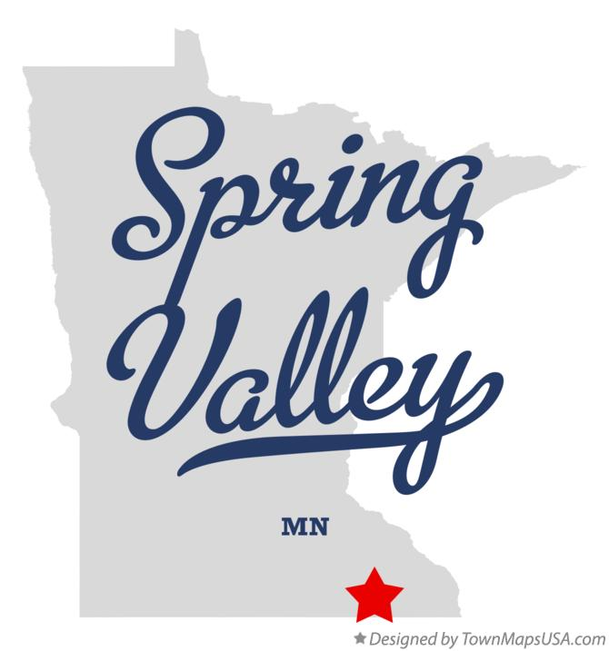 Map of Spring Valley Minnesota MN