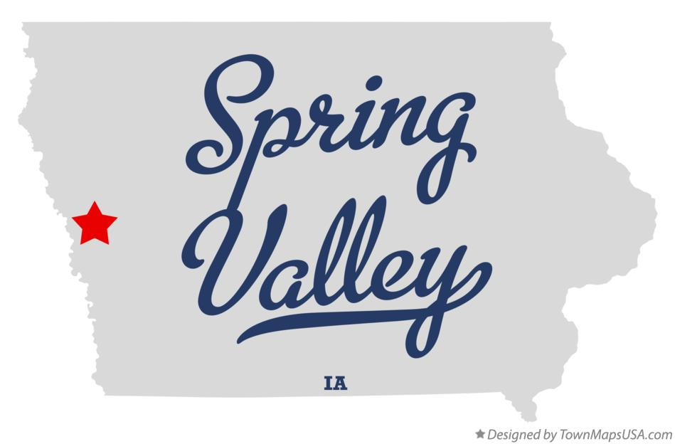 Map of Spring Valley Iowa IA