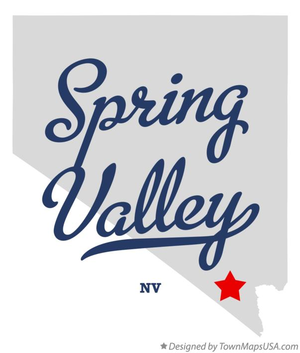 Map of Spring Valley Nevada NV
