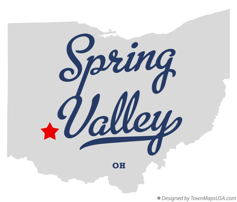 Map of Spring Valley Ohio OH