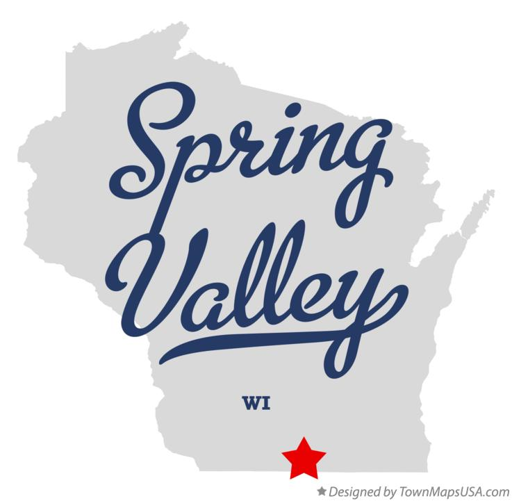 Map of Spring Valley Wisconsin WI