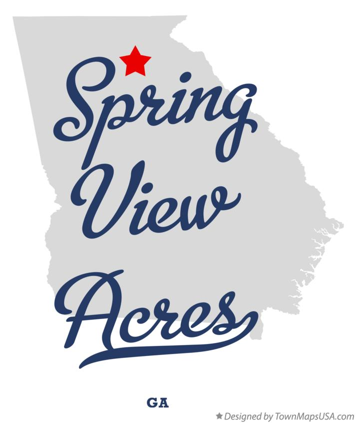 Map of Spring View Acres Georgia GA