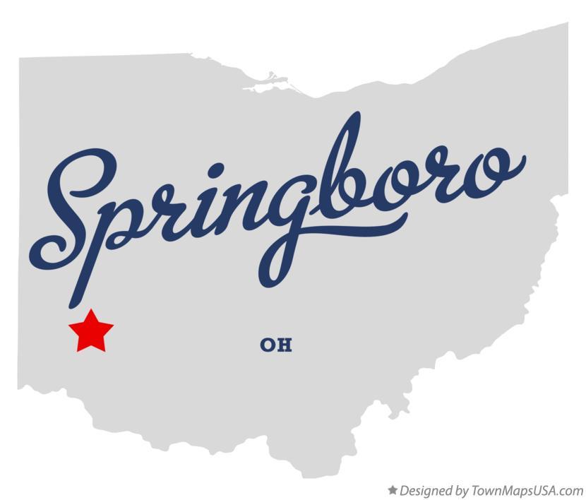 Springboro Ohio Map.Map Of Springboro Oh Ohio
