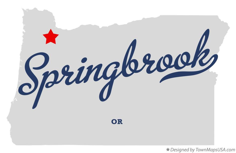 Map of Springbrook Oregon OR