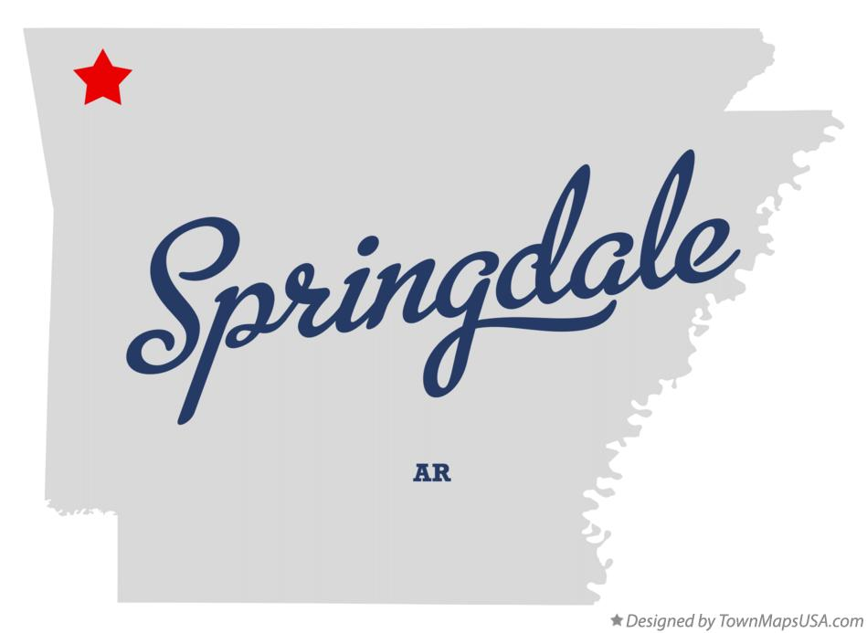 Map of Springdale, AR, Arkansas