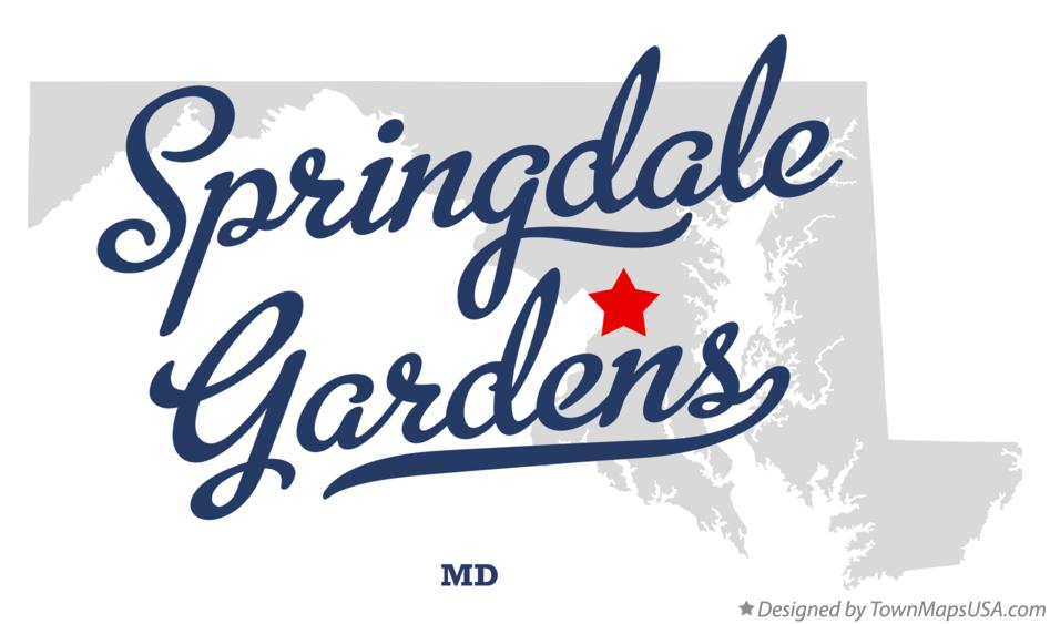 Map of Springdale Gardens Maryland MD