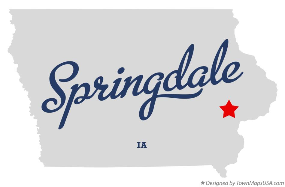 Map of Springdale Iowa IA