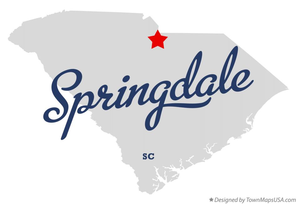 Map of Springdale South Carolina SC