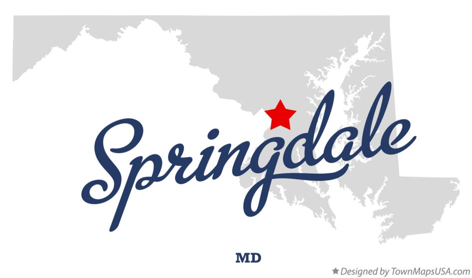 Map of Springdale Maryland MD