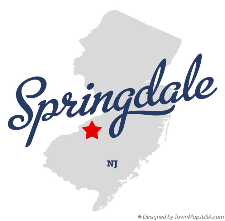 Map of Springdale New Jersey NJ