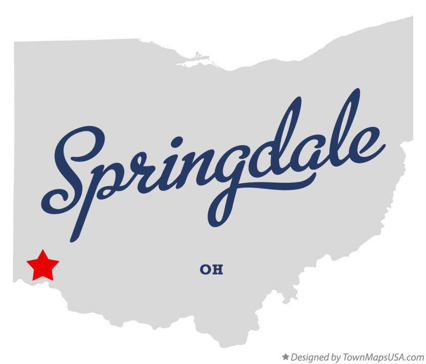 Map of Springdale Ohio OH
