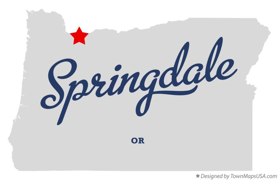 Map of Springdale Oregon OR