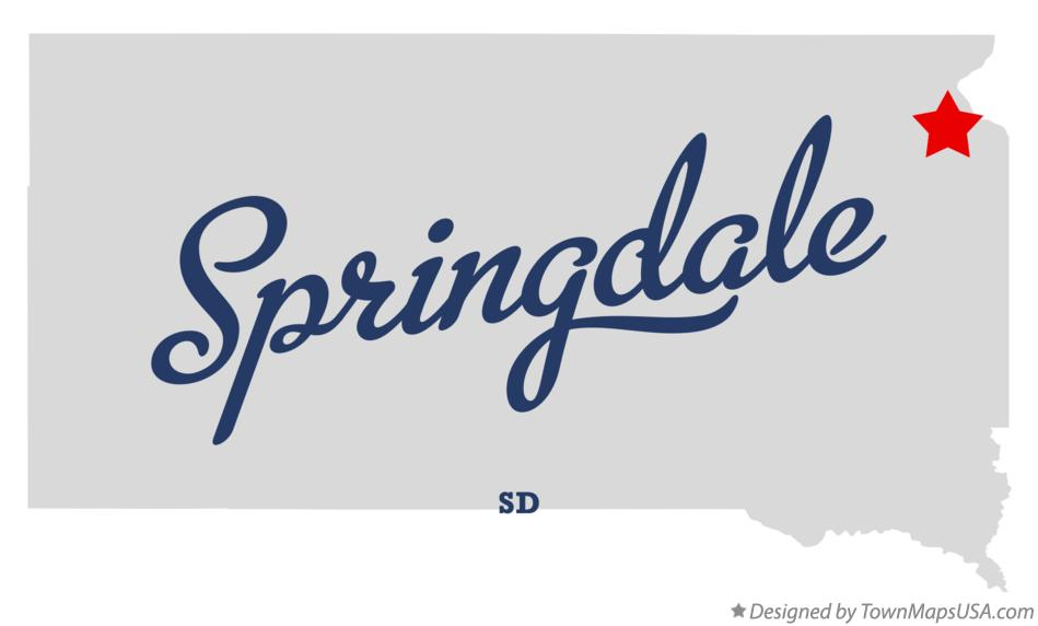 Map of Springdale South Dakota SD
