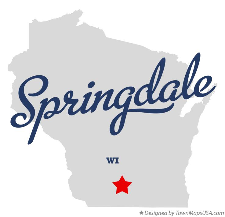 Map of Springdale Wisconsin WI