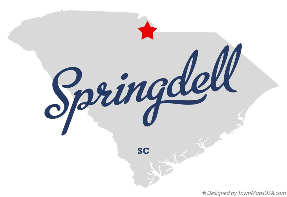 Map of Springdell South Carolina SC