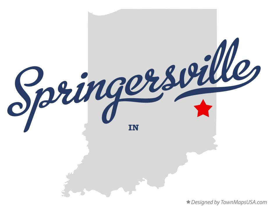 Map of Springersville Indiana IN