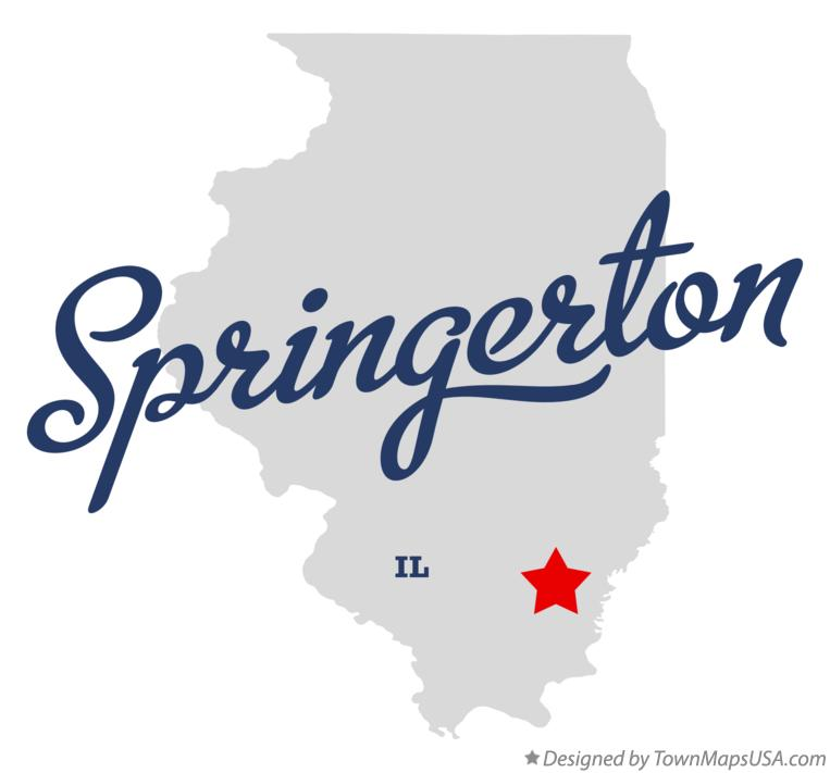 Map of Springerton Illinois IL
