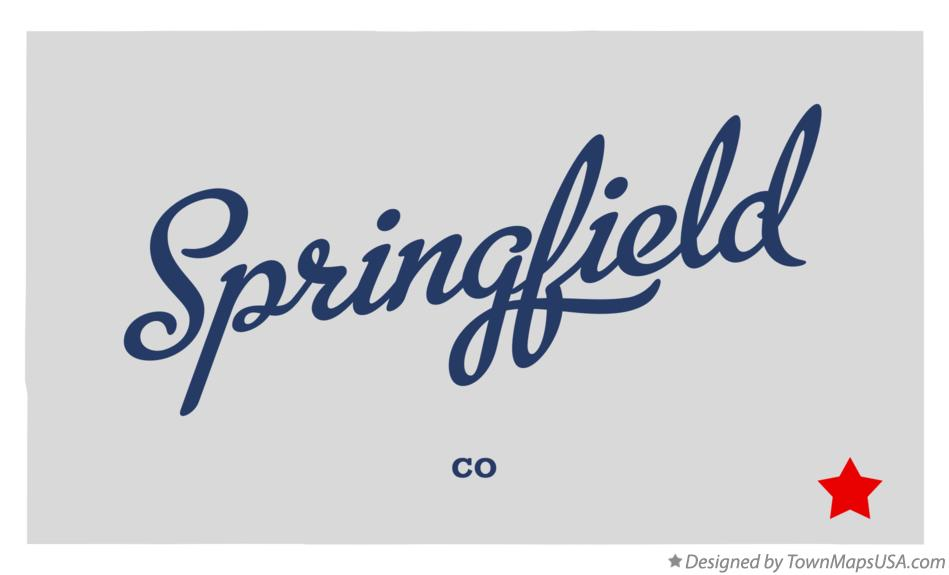 Map of Springfield Colorado CO