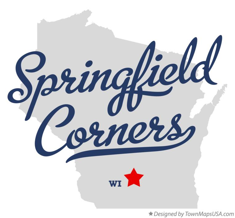 Map of Springfield Corners Wisconsin WI
