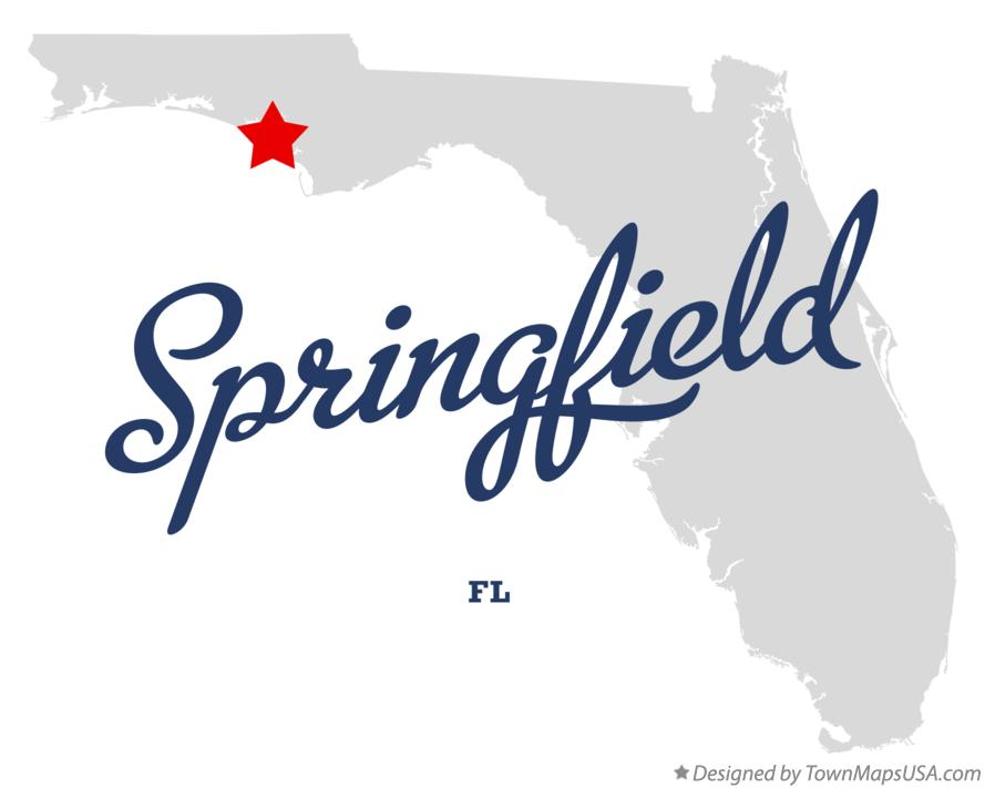Map of Springfield Florida FL