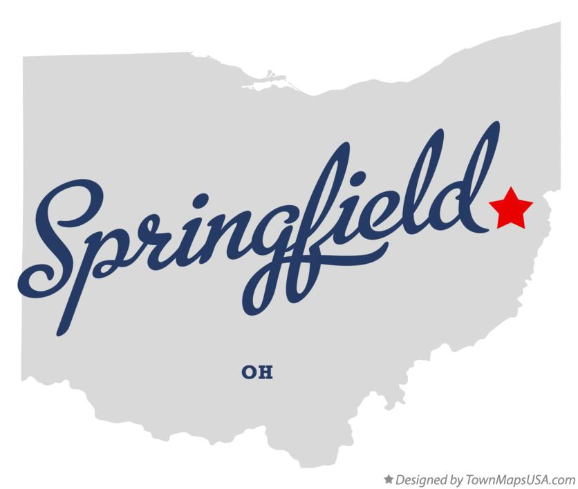 Map of Springfield Ohio OH