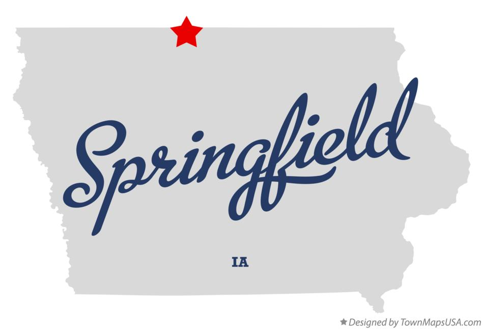 Map of Springfield Iowa IA