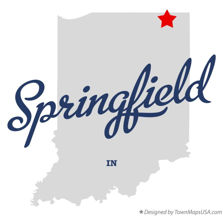 Map of Springfield Indiana IN