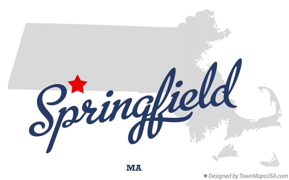Map of Springfield Massachusetts MA