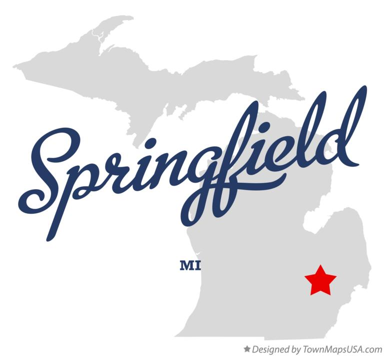 Map of Springfield Michigan MI