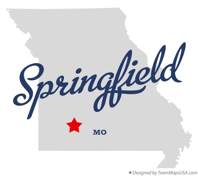 Map of Springfield Missouri MO