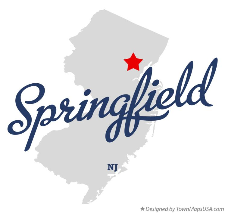 Map of Springfield New Jersey NJ